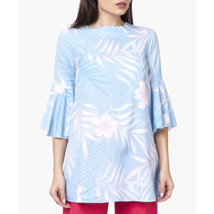 Image for Multi-coloured woven tunic shirt