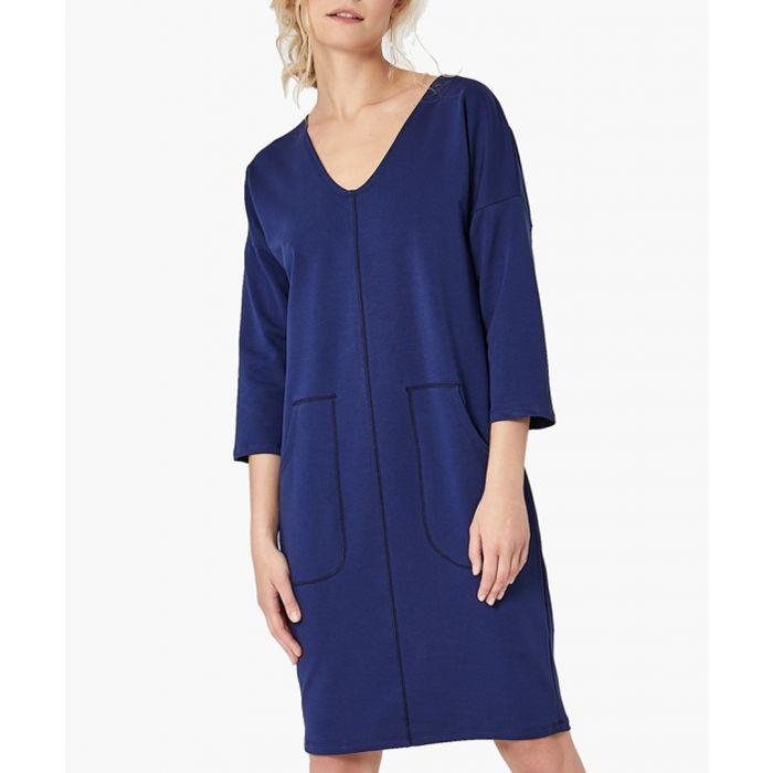 Image for Jeans blue straight cut dress
