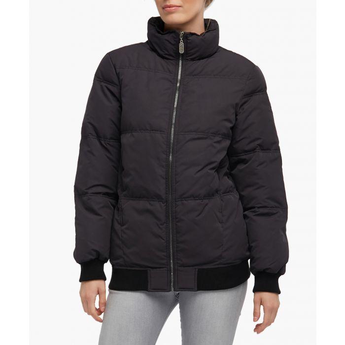 Image for Black high-neck puffer jacket