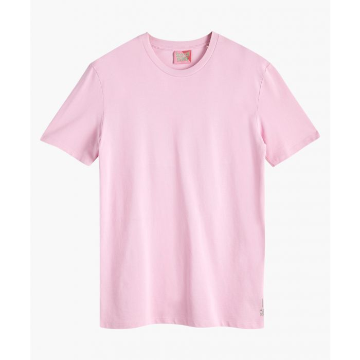Image for Pink smoke cotton pique crew neck T-shirt