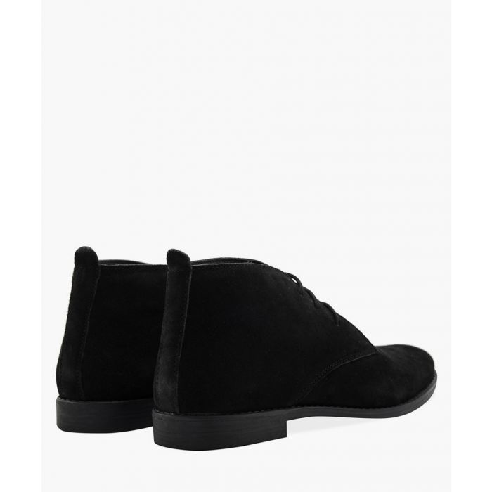 Image for Black leather desert boots