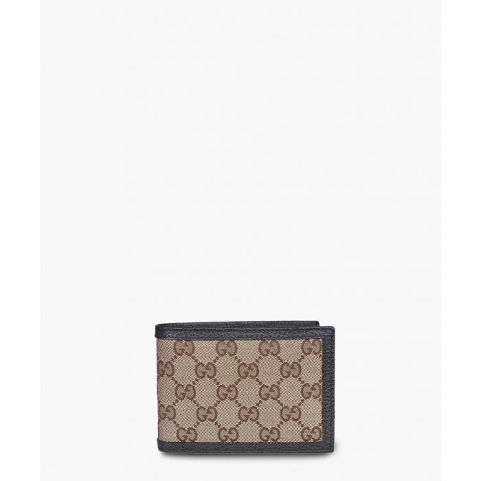 Image for Beige and brown tile canvas wallet