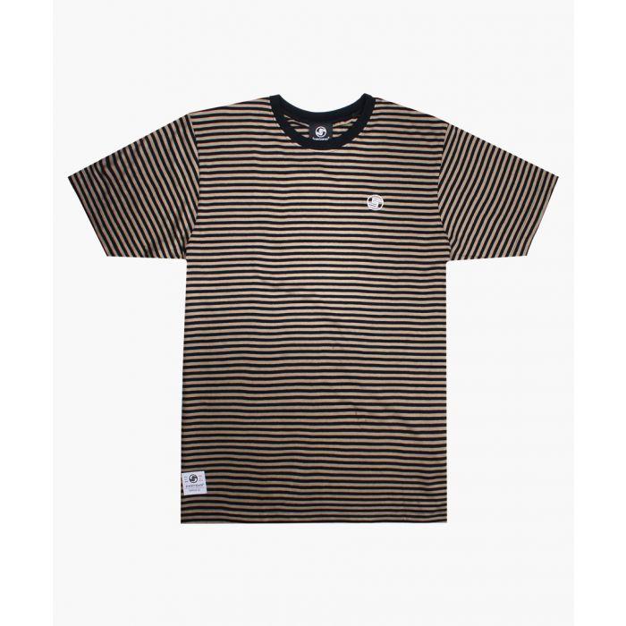 Image for Khaki printed stripe T-shirt