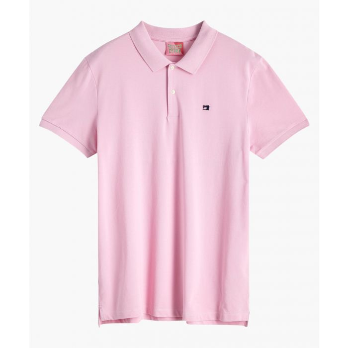 Image for Pink smoke cotton pique polo shirt