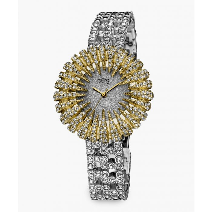 Image for Silver and gold-tone crystal-embellished watch