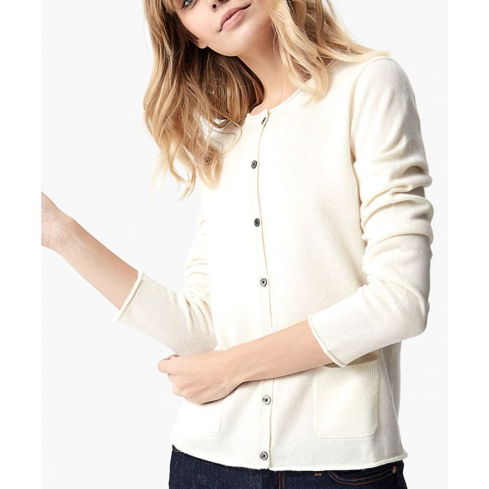 Image for White pure cashmere cardigan