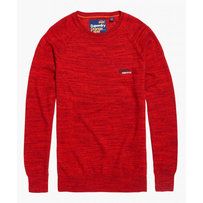 Image for Orange Label red pure cotton crewneck top
