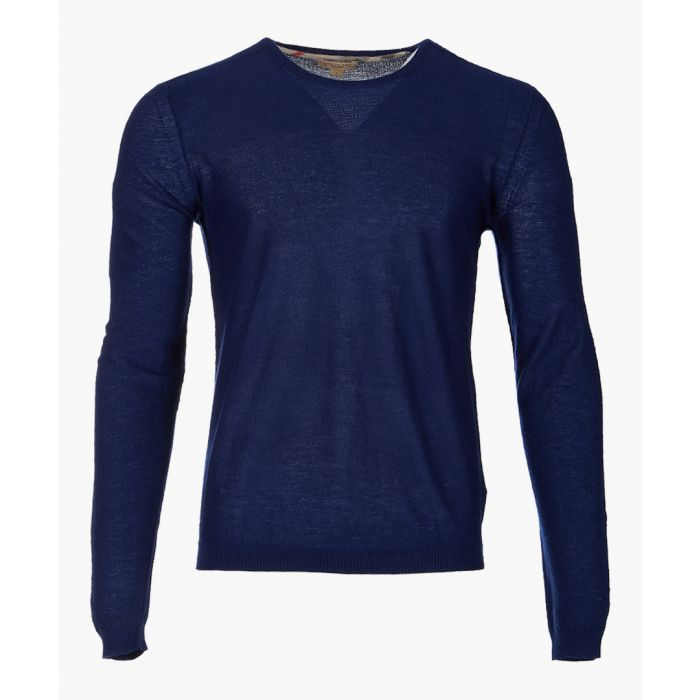 Image for blue pure cashmere jumper