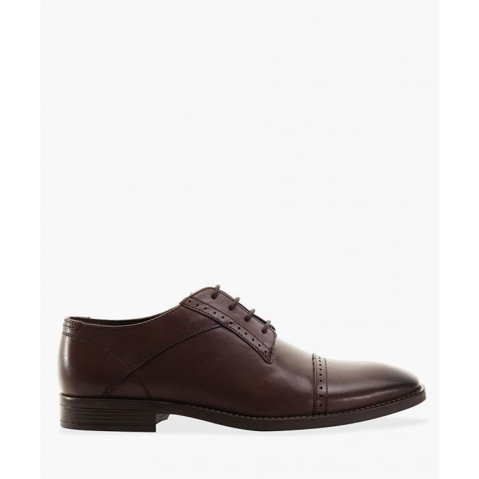 Image for Brown toe cap Derby shoes