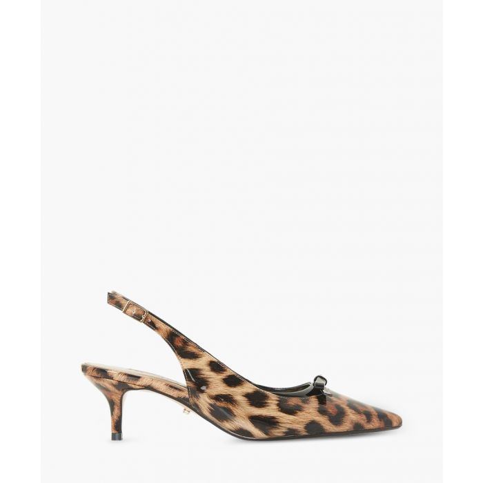 Image for Crafty leopard print slingback heels