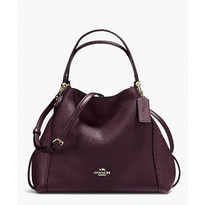 Image for Edie oxblood leather shoulder bag