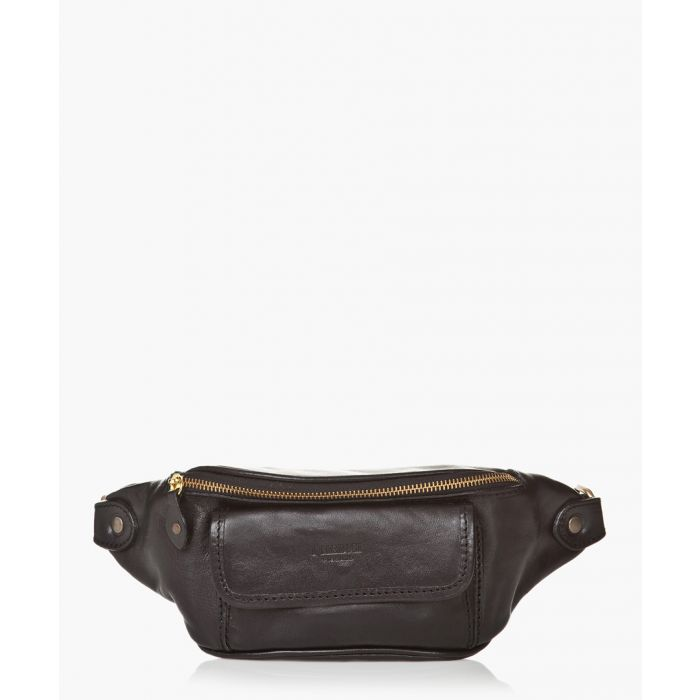 Image for Black leather backpack