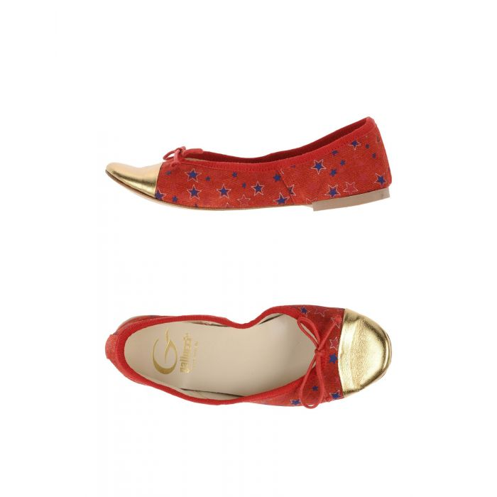 Image for Red leather ballet flats