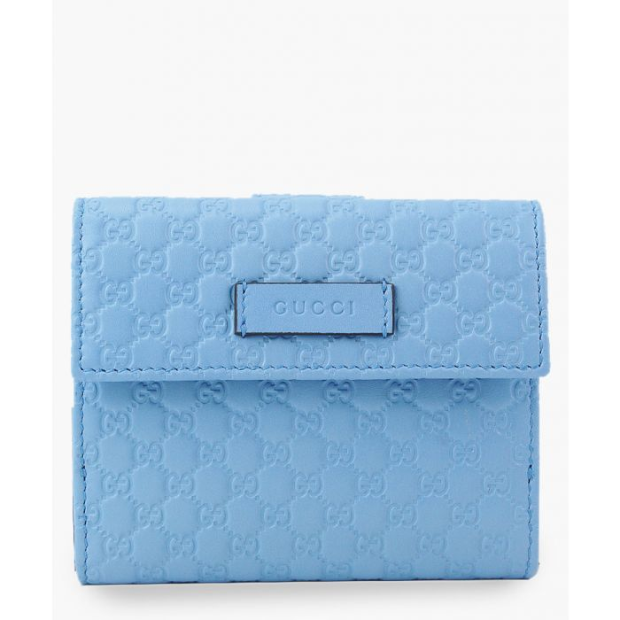 Image for Guccissima light blue leather wallet