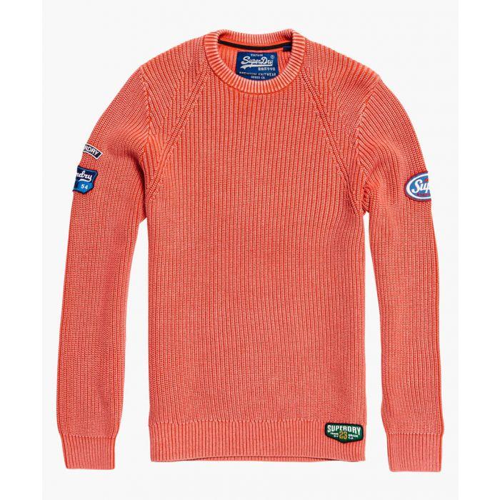 Image for Coral pure cotton garment dye wash crewneck top