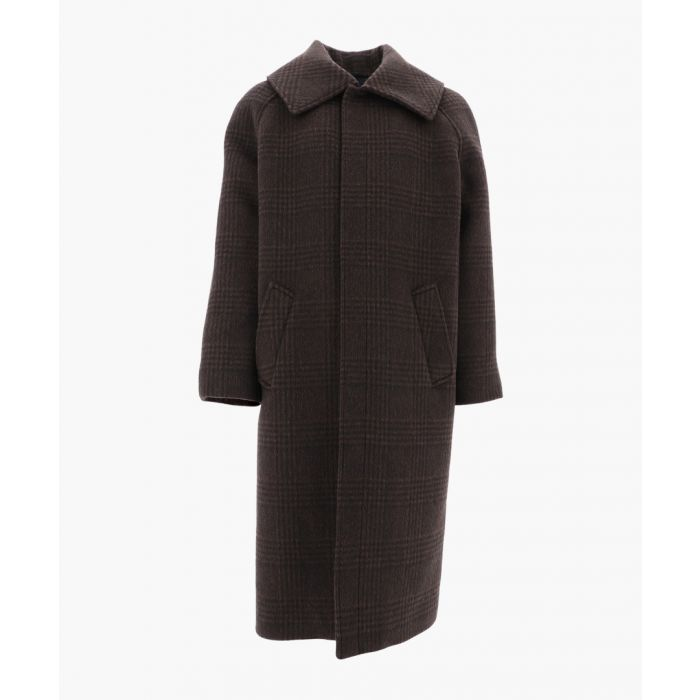 Image for Incognito brown virgin wool blend coat