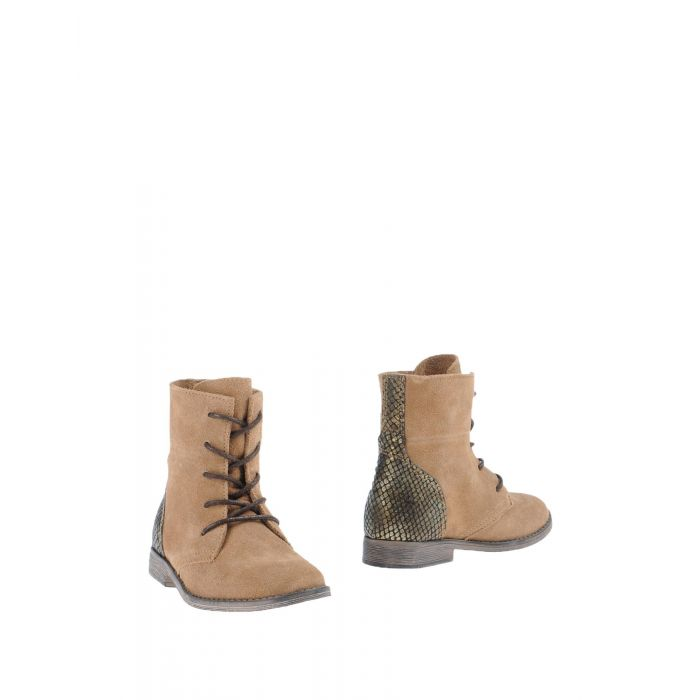 Image for Camel leather lace-up boots