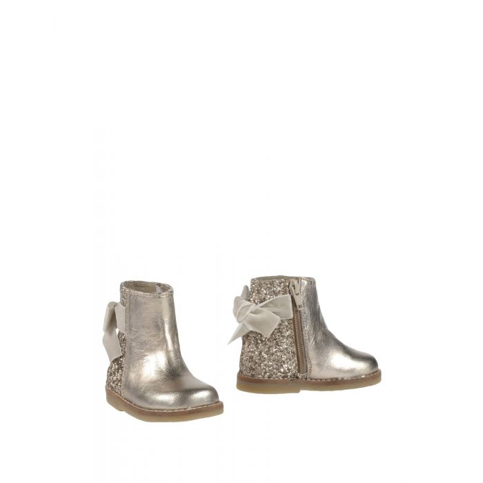 Image for Silver-tone platinum leather ankle boots