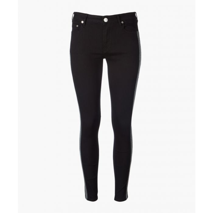 Image for Black pure cotton skinny jeans
