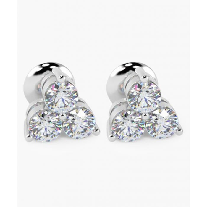Image for 18k white gold and 0.40ct triple diamond earrings