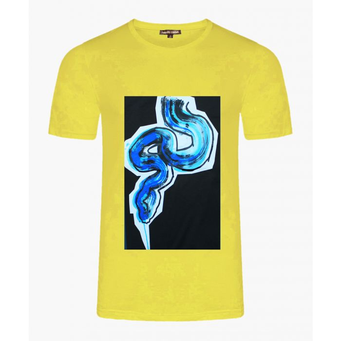 Image for Yellow cotton snake print T-shirt