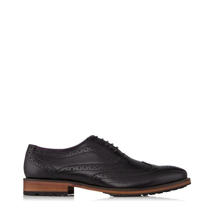 Image for Oliver black leather brogues