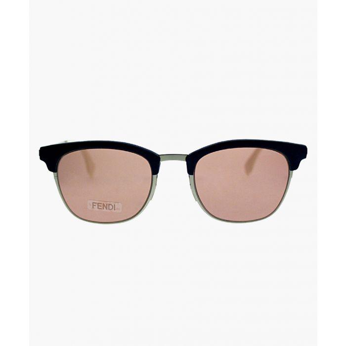 Image for Silver-tone and multi-coloured sunglasses