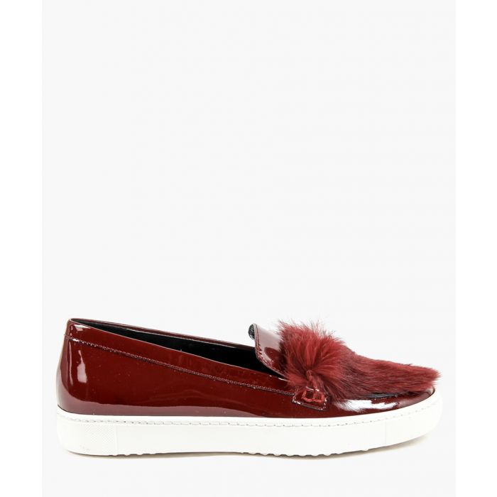 Image for Red slip-on trainers