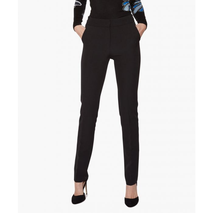 Image for Black siella straight leg trouser