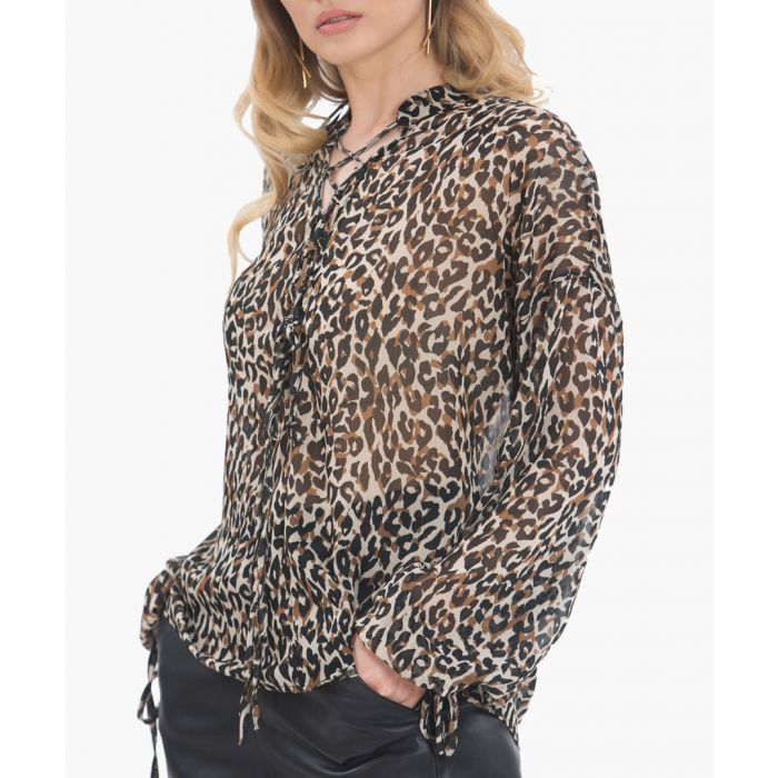 Image for Leopard chiffon blouse
