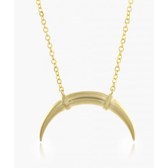 Image for Bull Horn 14k gold-plated necklace