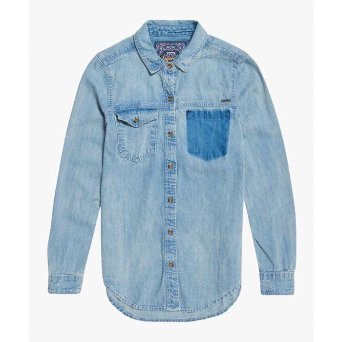 Image for Blue oversized denim shirt