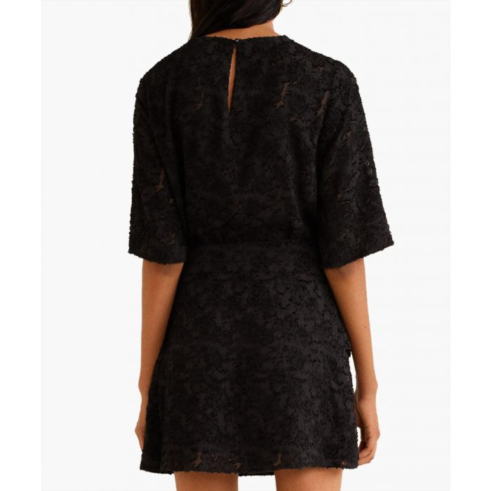 Image for Black textured jacquard top