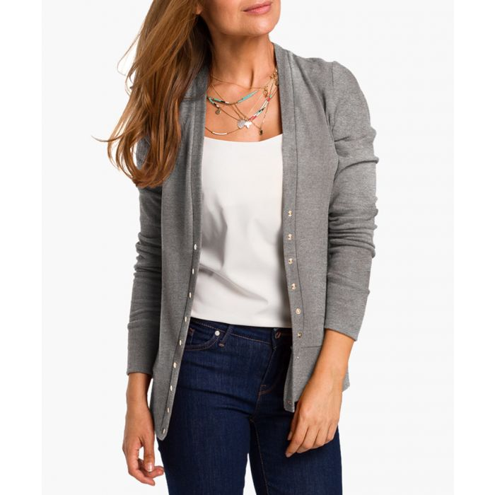 Image for Grey cotton blend cardigan