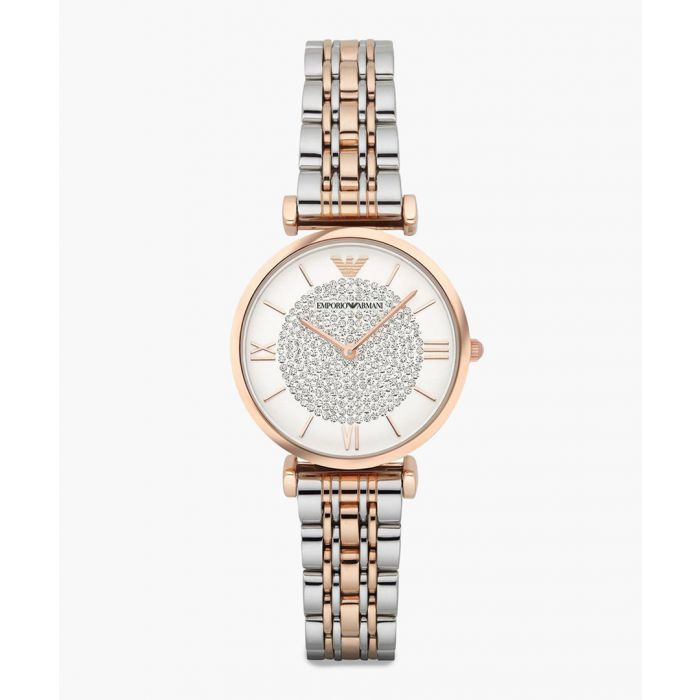 Image for Silver and rose gold-tone watch