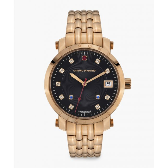 Image for Nesta rose gold-tone watch