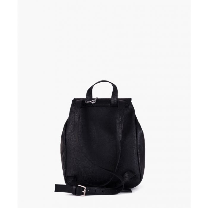 Image for Ambrogio black leather backpack