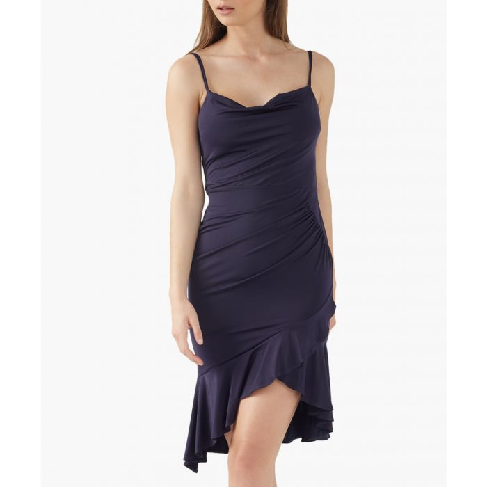 Image for Navy assymetrical dress