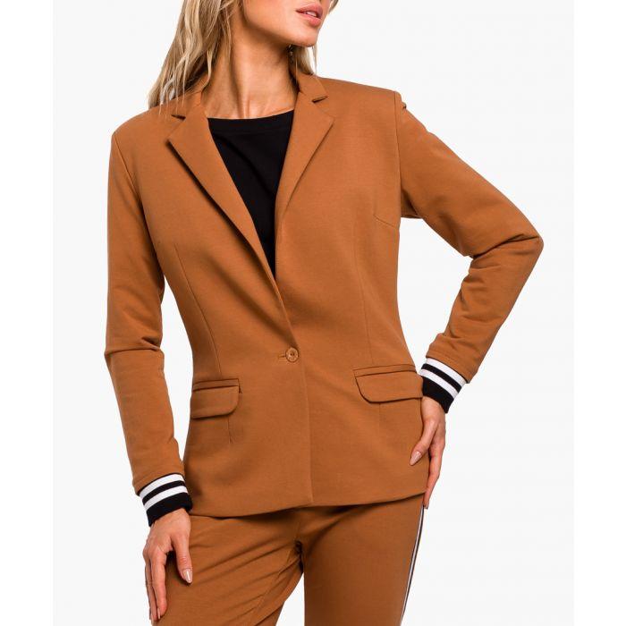 Image for Caramel Cotton Blend Jacket