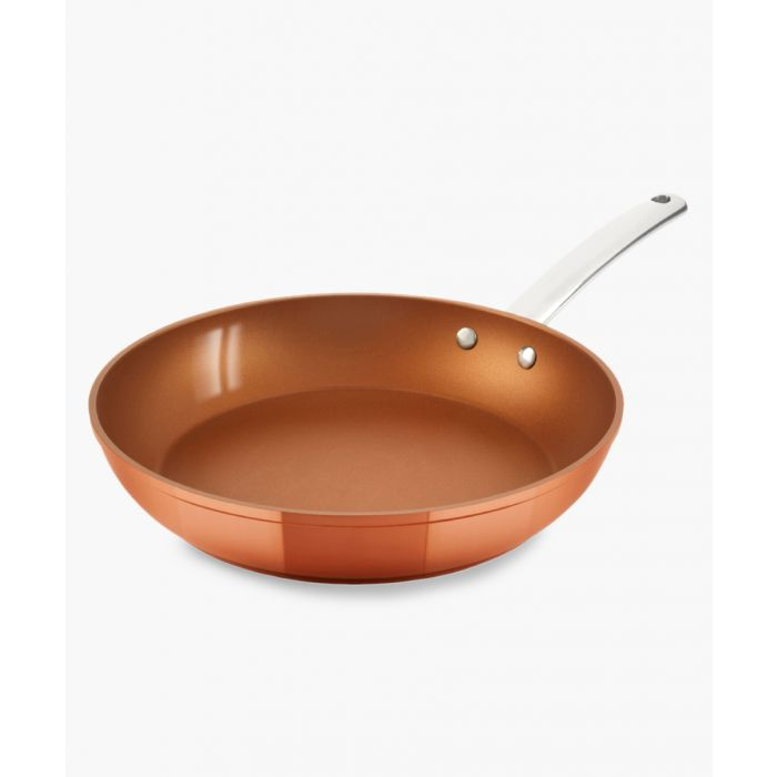 Image for Copper-tone forged frying pan 28cm