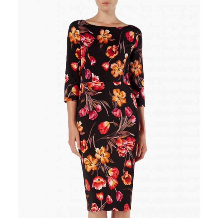 Image for Goddess tulip print pencil dress