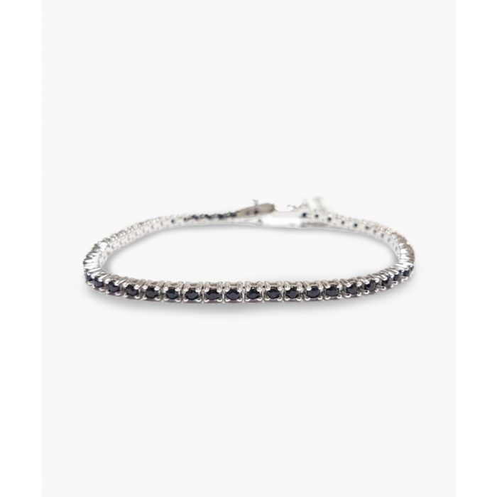 Image for 4.00ct black sapphire and diamond silver bracelet