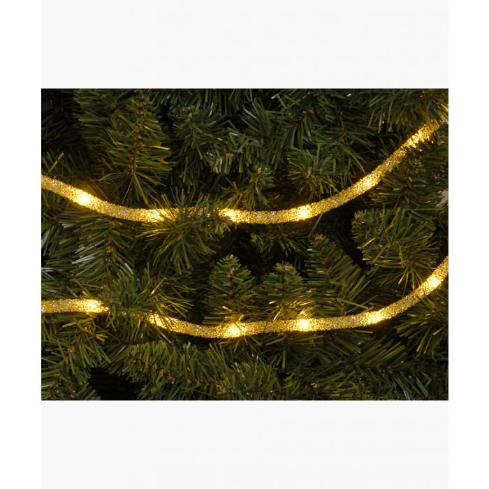 Image for Gold-tone dewdrop glitter tube light