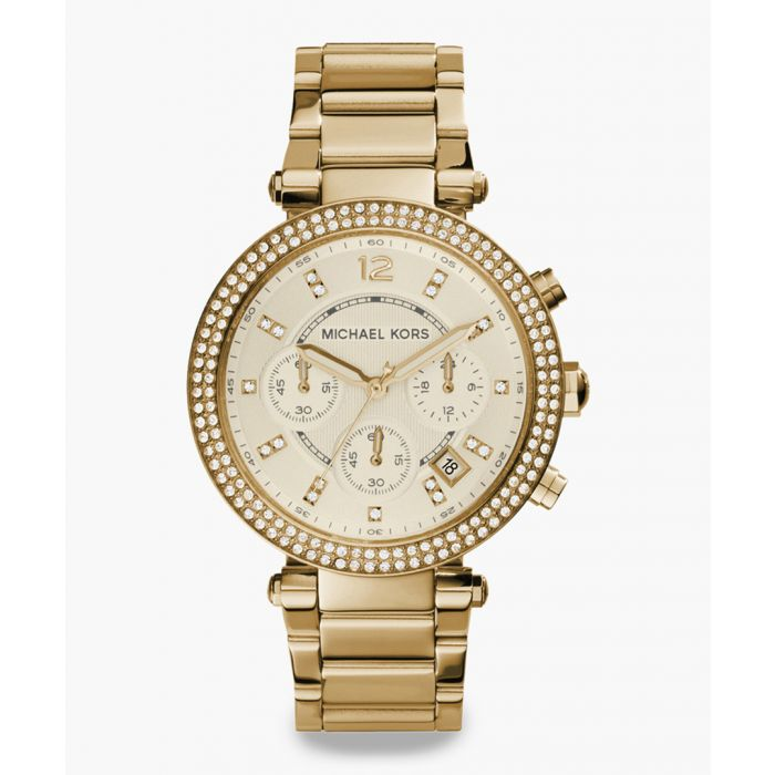 Image for Gold-tone and crystal bezel steel stainless steel watch
