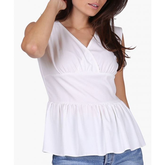 Image for Ecru woven blouse