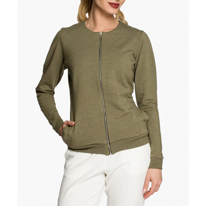 Image for Khaki cotton blend blazer