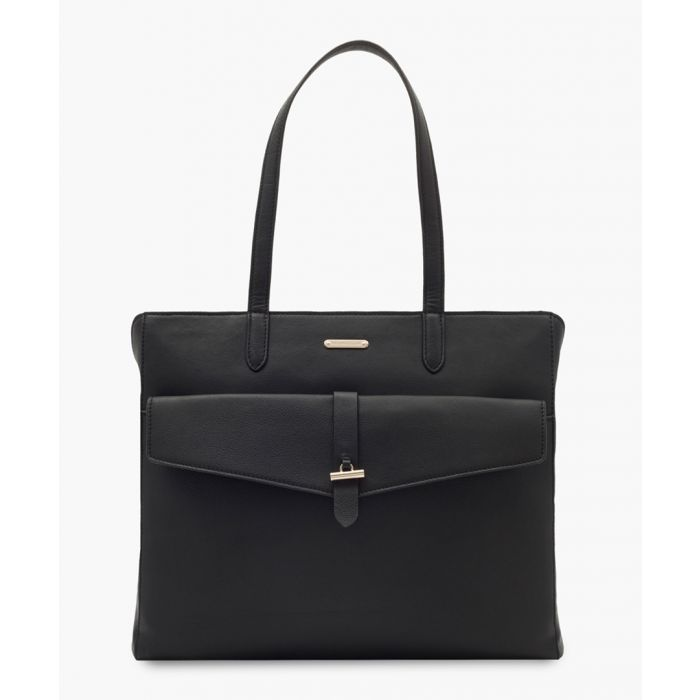 Image for Catania black leather bag