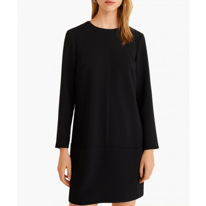 Image for Black decorative seam dress
