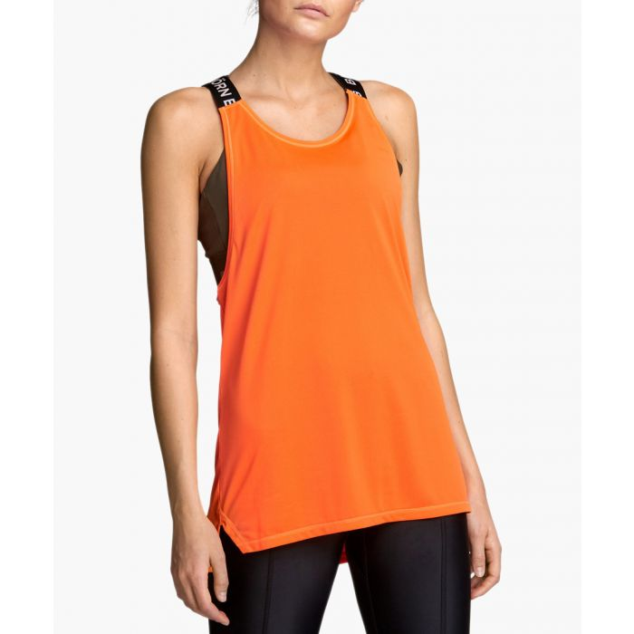 Image for Cassie orange loose fit tank top