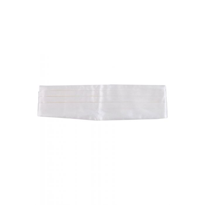 Image for White pure silk belt